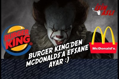 Burger King'den McDonalds'a efsane troll.